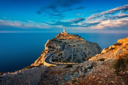 Lighthouse of cap de formentor mallorca spain around sunset