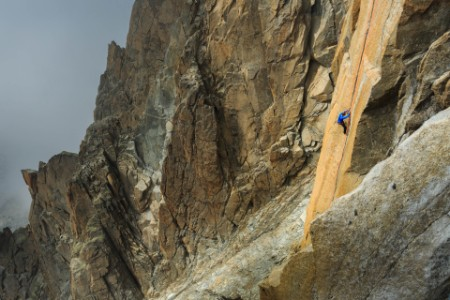 Man climbing in france