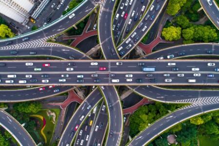 Luftfoto Shanghai motorvej