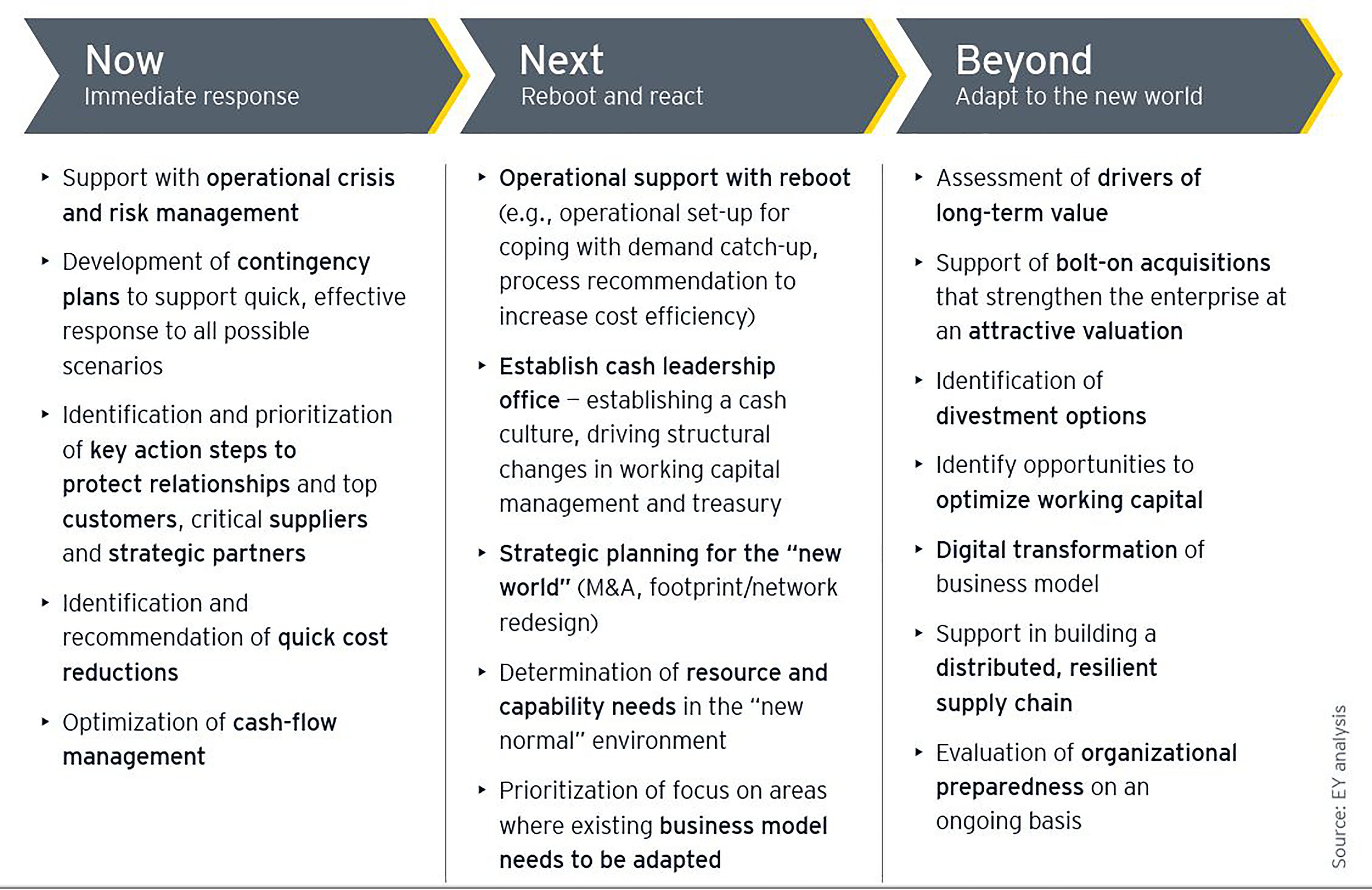 "EY methodology for ""succeeding"" in a recession"