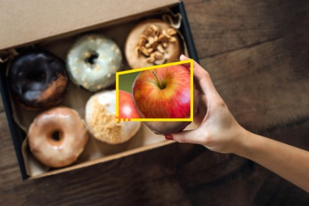 reframe your future doughnut and apple