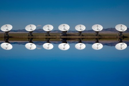 Very large array radio telescopes dishes