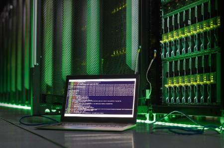 laptop computer language server room