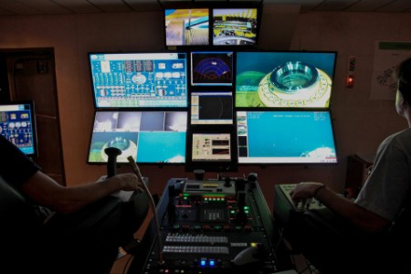 Oil rig control room