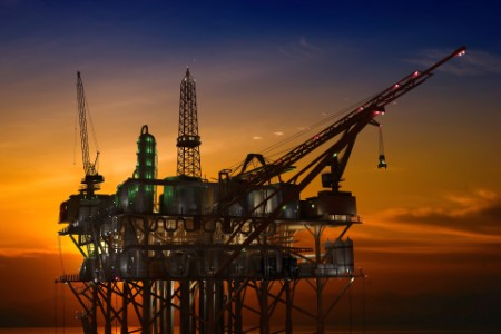 Oil Rig late evening