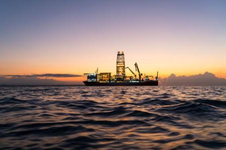 Oil tanker in mediterranean sea