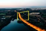 an aerial night time view of a uk motorway metadata image