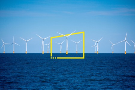 London array offshore wind park in north sea