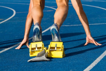Aloittava sprintteri tukkii radan