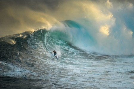 surfer big wave jaws maui