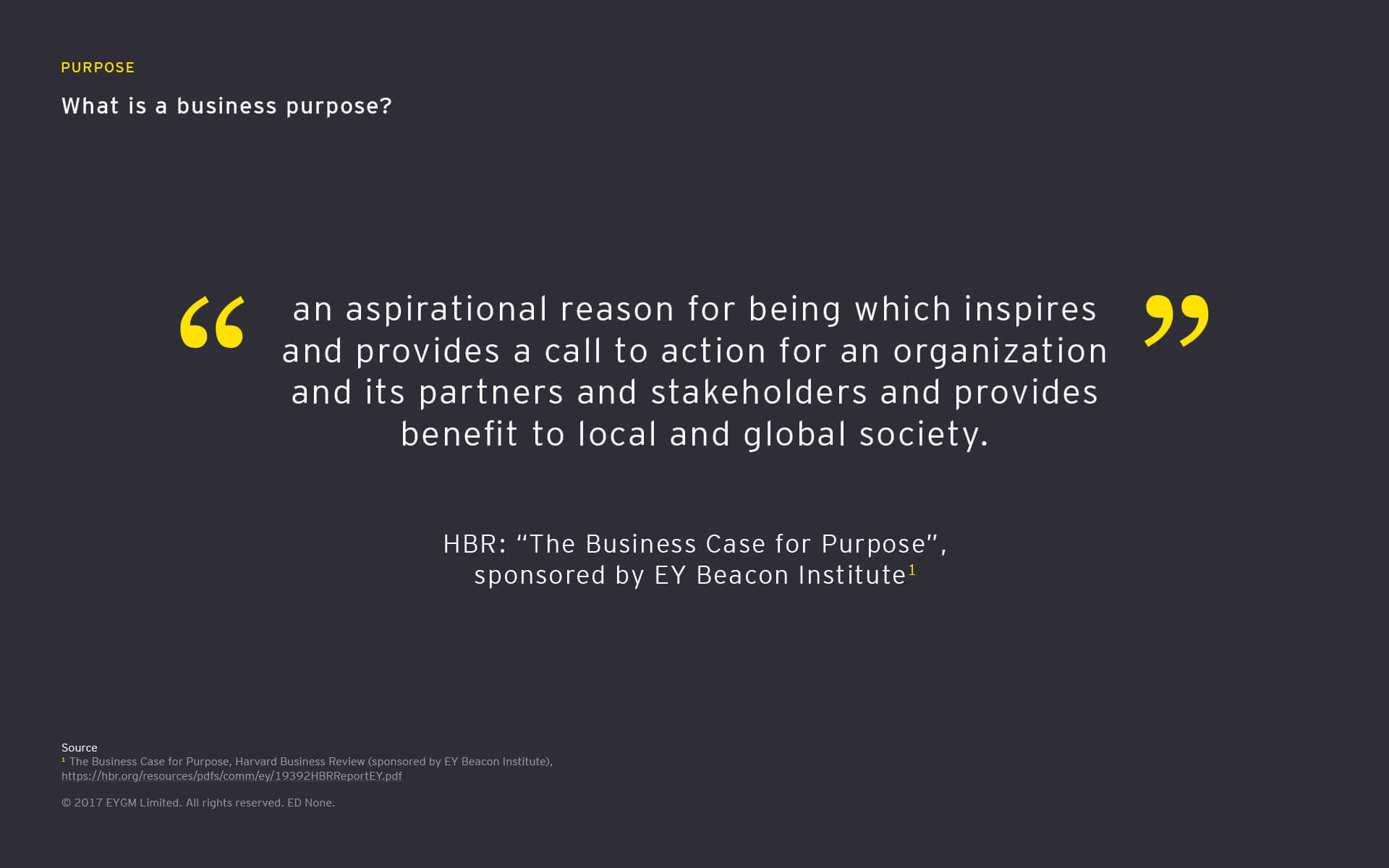 What is a business purpose