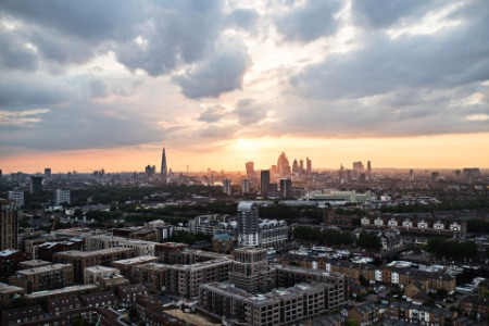 Sunset over a London Skyline