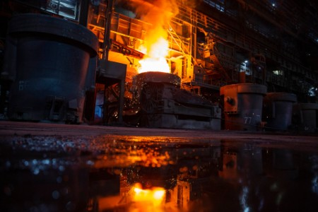 Furnace at a steel plant