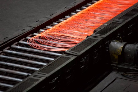 Steel cables production