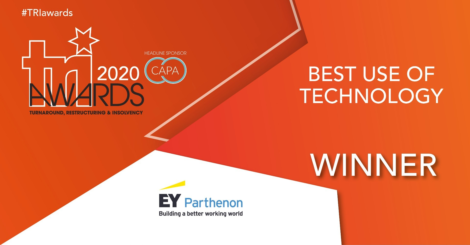 Image for 2020 TRI Awards - Best use of Technology