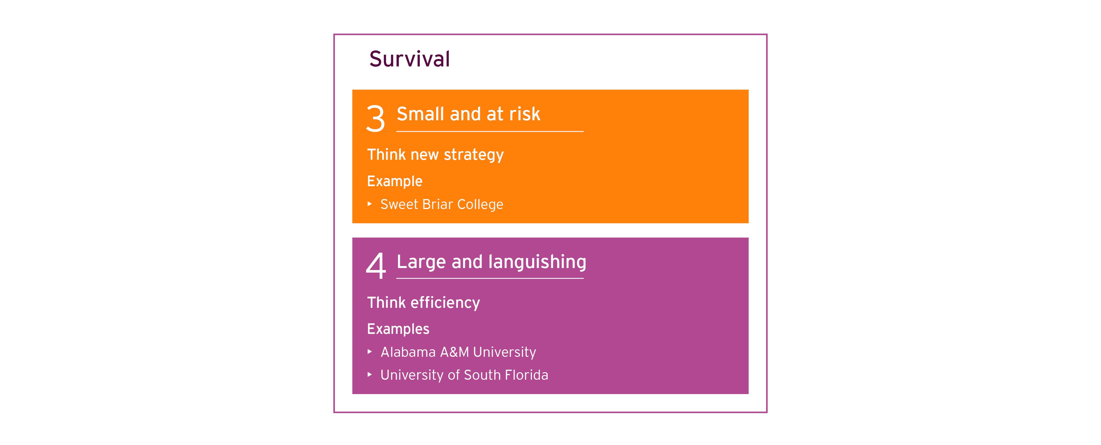 Survival diagram