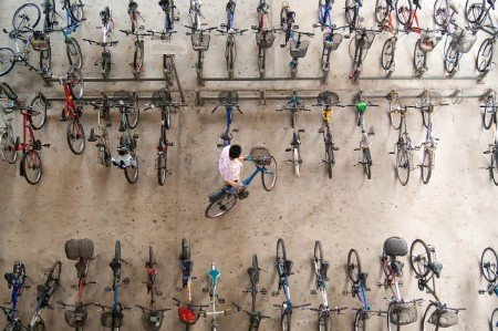 parking bicycles