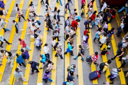 Rush hour Hong Kong