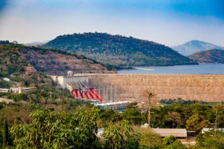 Akosombo Hydroelectric Power Station, Volta River, Ghana