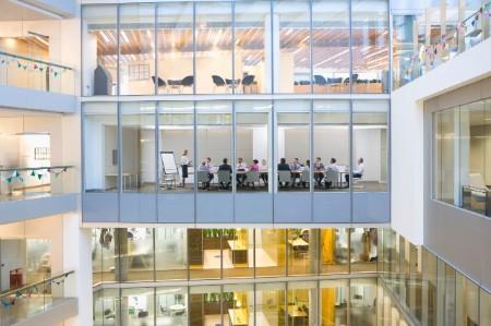 business meeting modern building