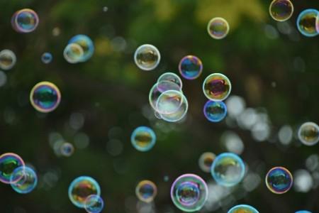 Bubbles flying around randomly