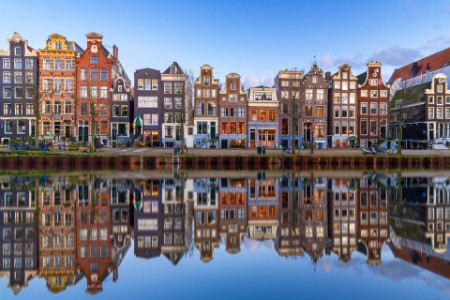 Architecture in Amsterdam Holland