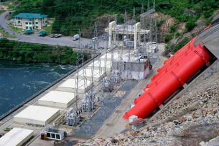 Largest African hydroelectric power station on the Volta River