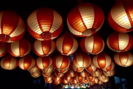 lanterns arranged up above