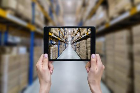Ordering online modern warehouse
