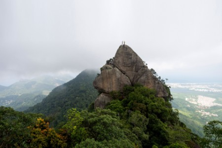 Rocky peak landscape with people on top brasil