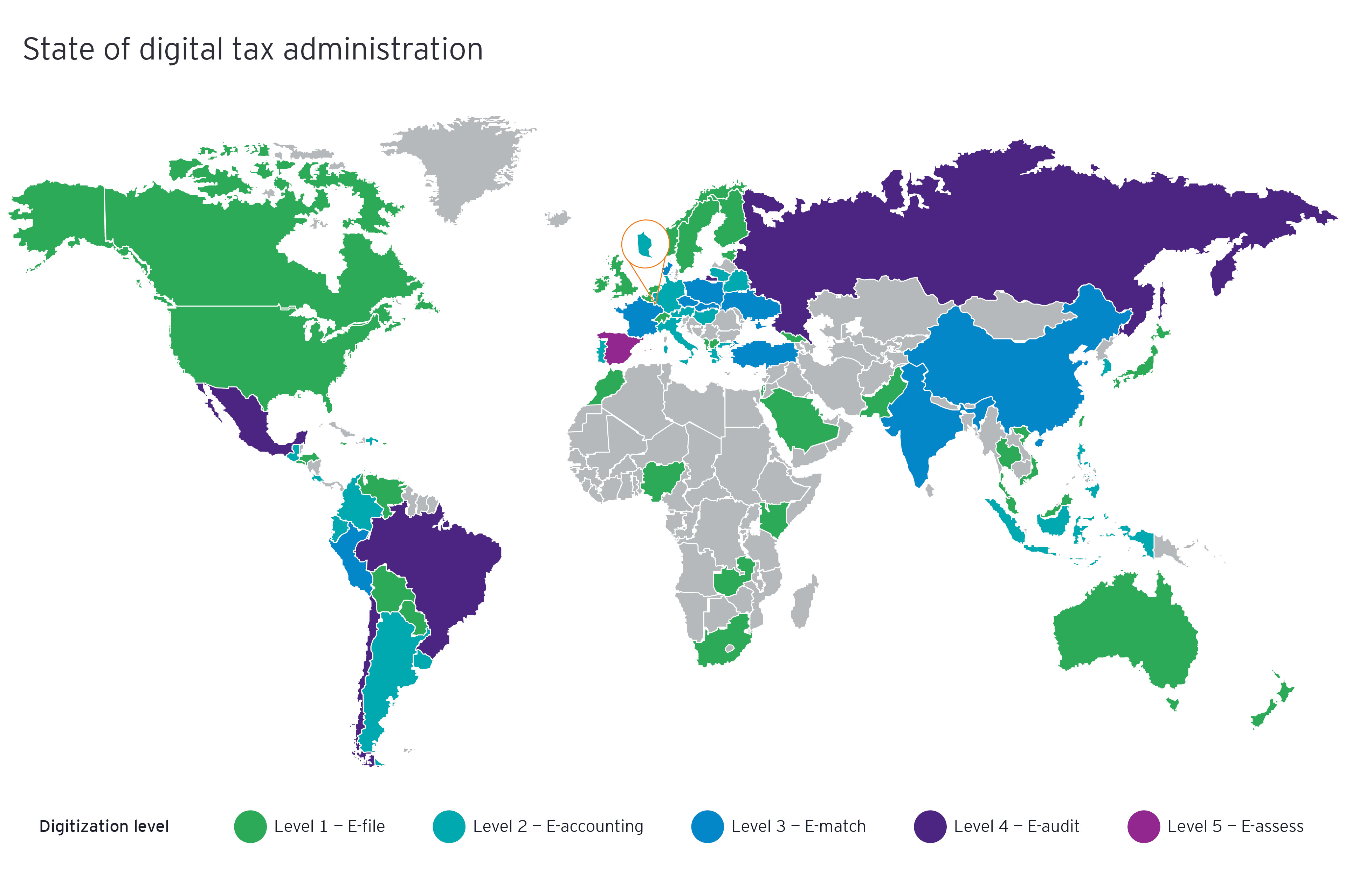 State of digital tax administration map