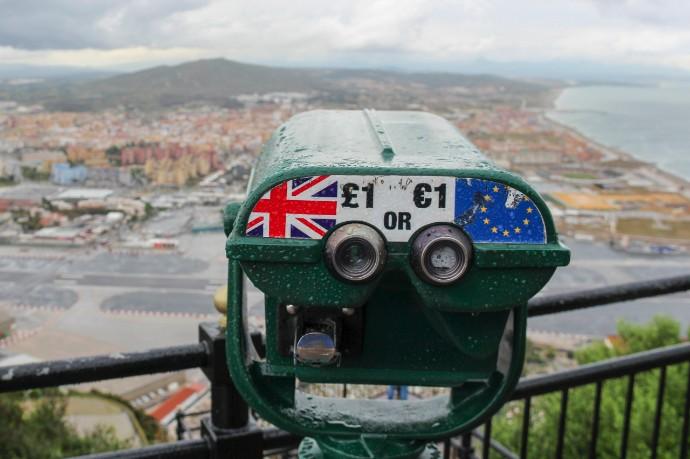 Telescope showing UK and EU