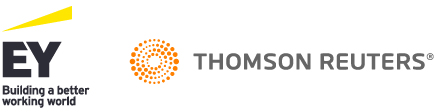 EY and Thomson Reuters logo
