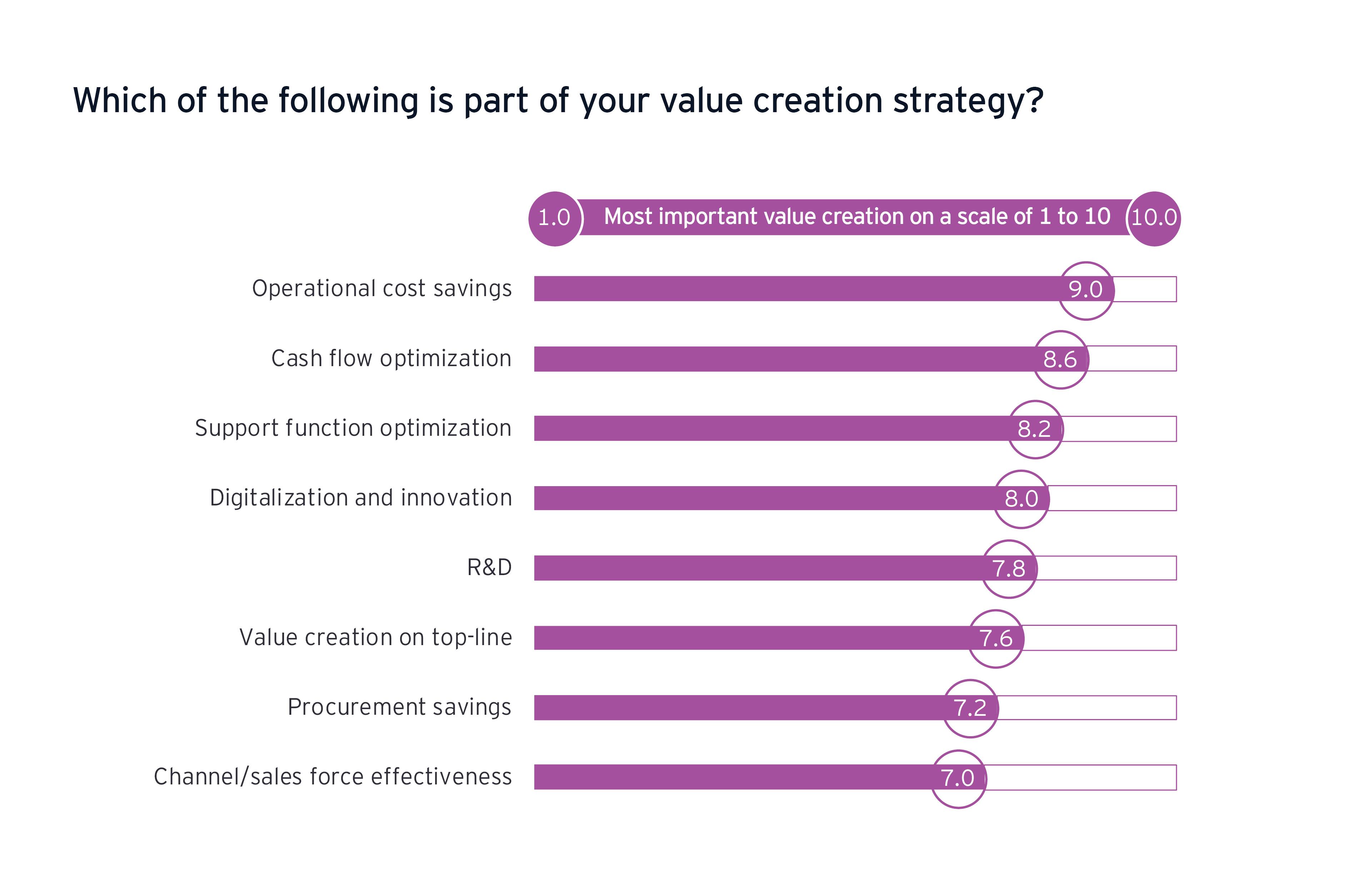 Quale dei seguenti elementi fa parte della strategia di creazione del valore