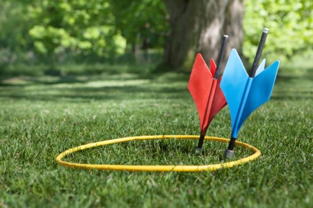 vintage lawn darts target