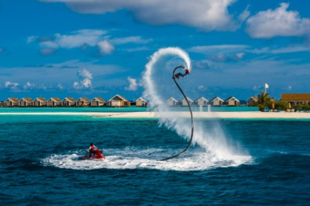 Fly board jet ski blue lagoon