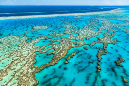 Australia. Whitsundays. Great Barrier Reef. Aerial View