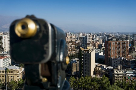Elevated view Santiago