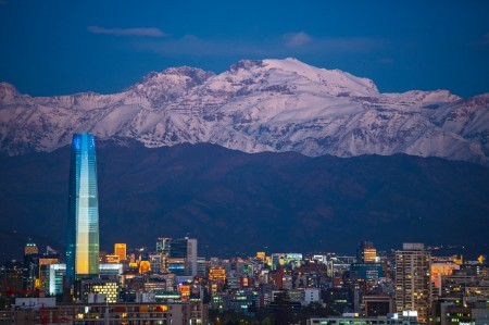 Santiago De Chile evening