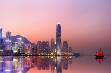 Hong Kong neon sunset