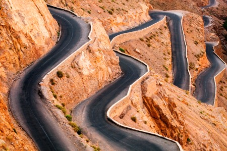 winding road hairpin rocky atlas mountains morocco