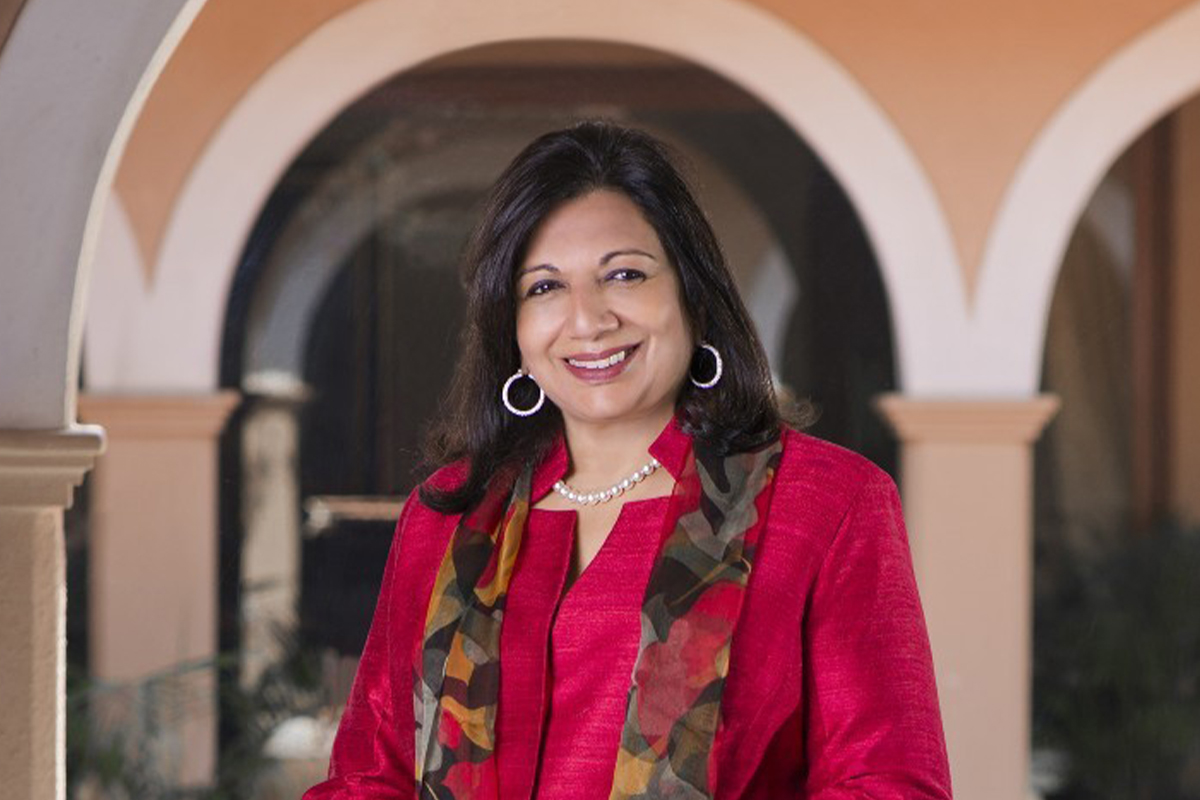 A photographic portrait of Dr. Kiran Mazumdar-Shaw