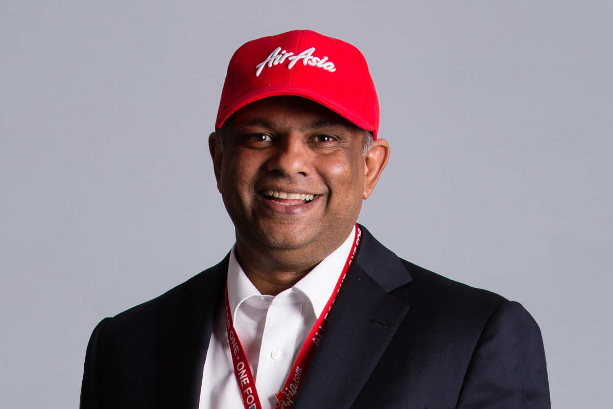 Photographic portrait of Tony Fernandes