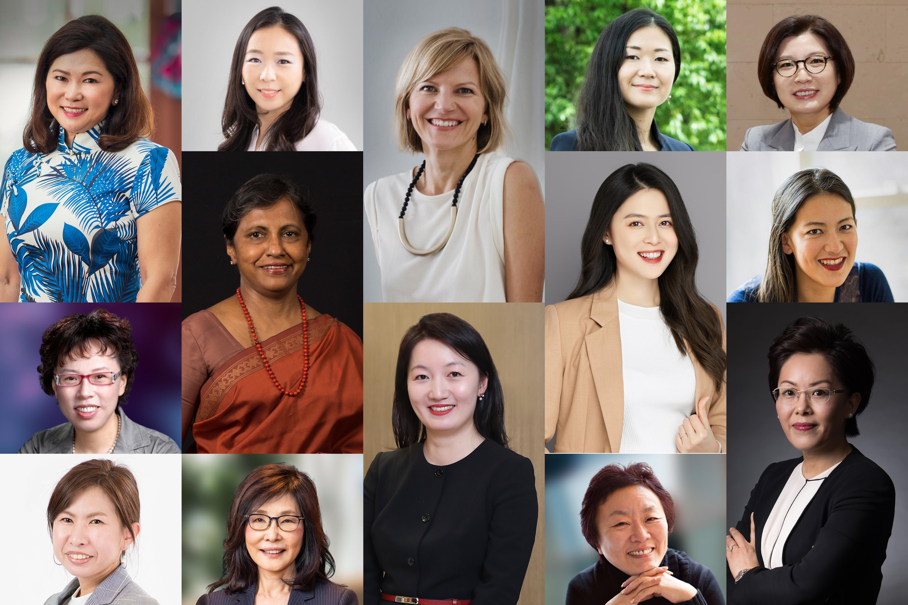 Entrepreneurial winning women group photograph