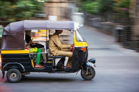 auto rickshaw urban street