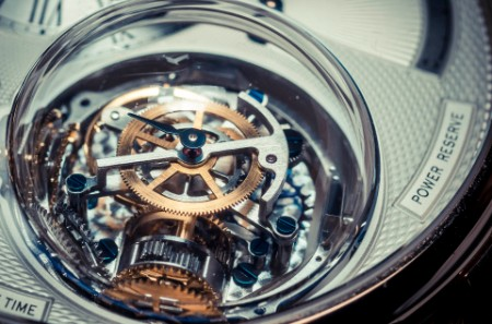 Close up of mechanical watch