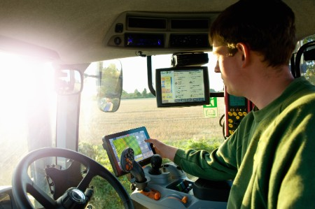 Man tractor touchscreen technology