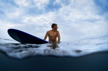 surfer looking wave