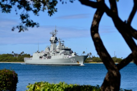 The Royal Australian Navy Anzac Class Frigate Hmas Perth