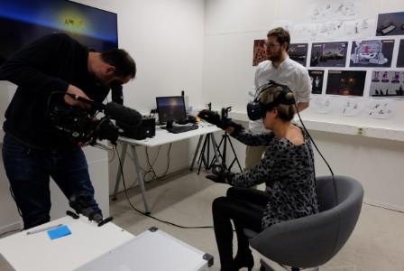 Sala de trabajo de realidad virtual de Manus